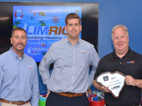 LimRic Named Daikin's Largest South Carolina Dealer