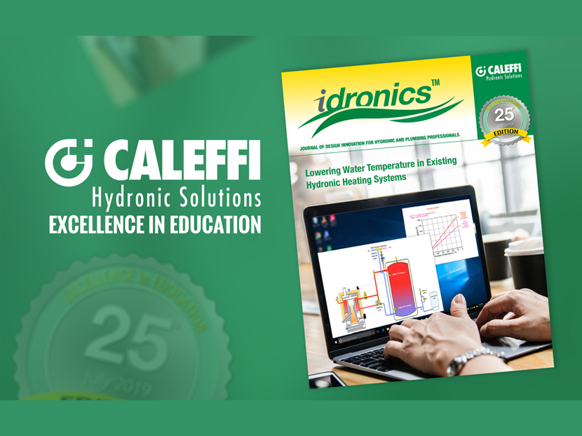 "Caleffi Releases 25th Edition of ""idronics"""