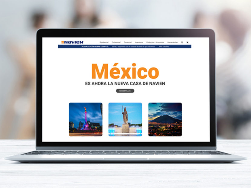 Navien Launches a New Website for Mexico and LATAM