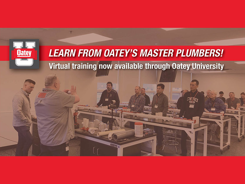 Oatey Co. Announces New Virtual Training Opportunities