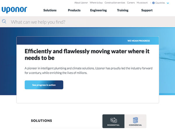 Uponor Launches New Website