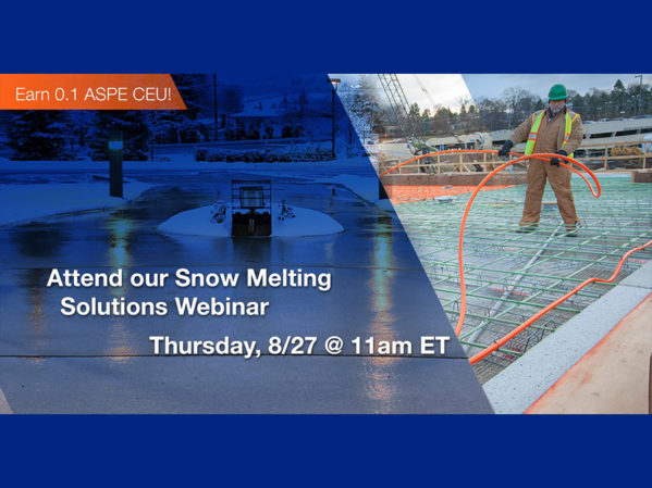 Watts to Host Customer Webinar on Snow Melting Solutions
