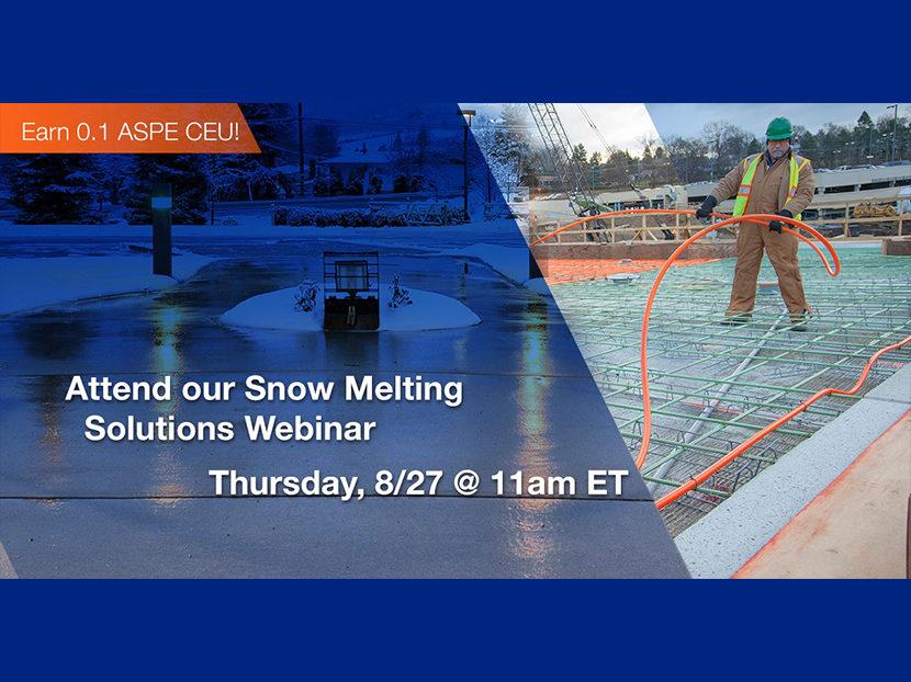 Watts to Host Customer Webinar on Snow Melting Solutions