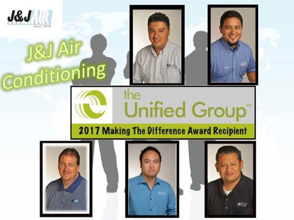 J&J Air Conditioning Receives 'Making The Difference' Award