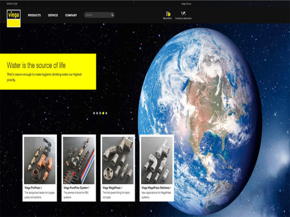 Viega Introduces New Website, Global Image Campaign