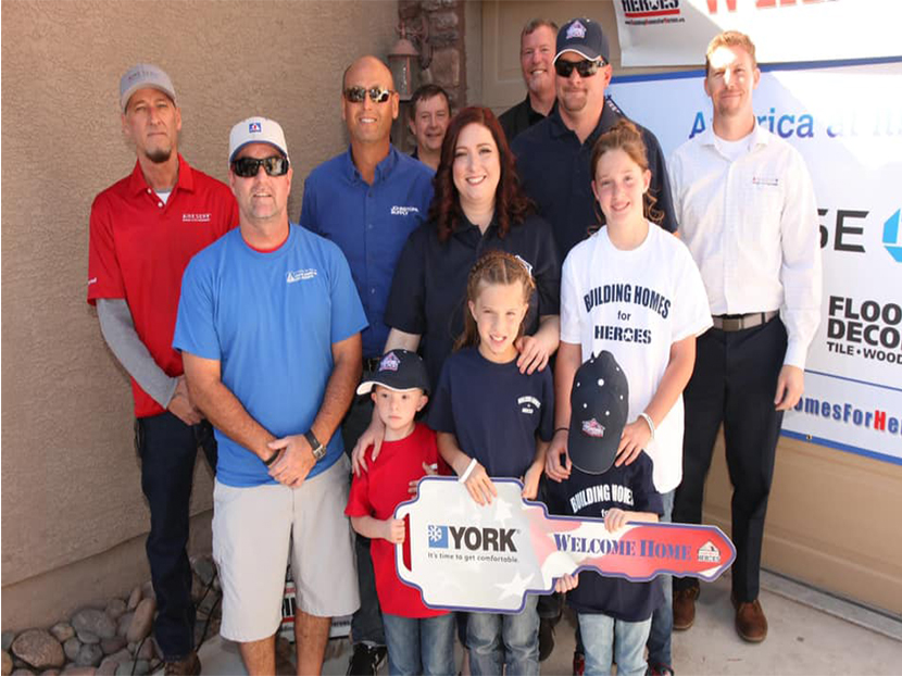 Las Vegas HVAC Contractor Installs Donated YORK System to Military Vet