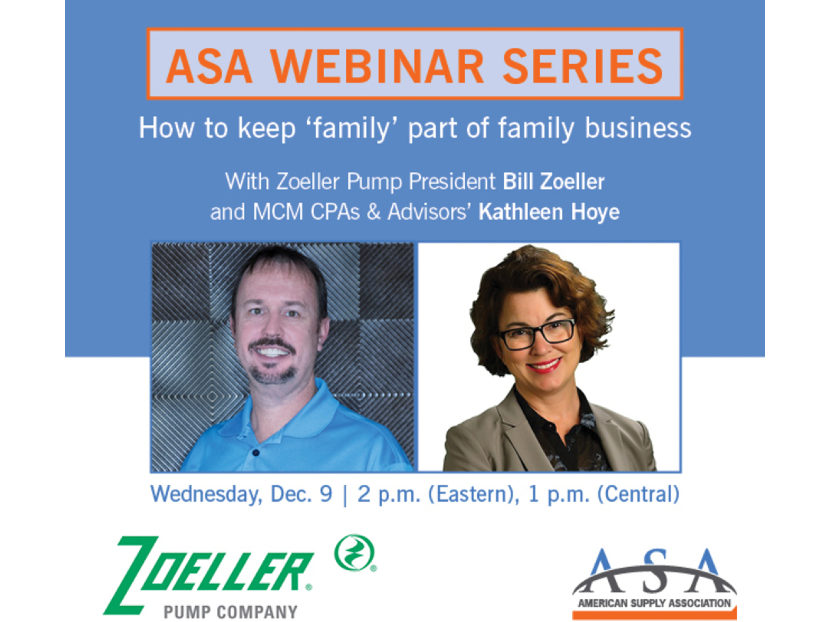 ASA Hosts Webinar Series How to Keep 'Family' Part of the Family Business
