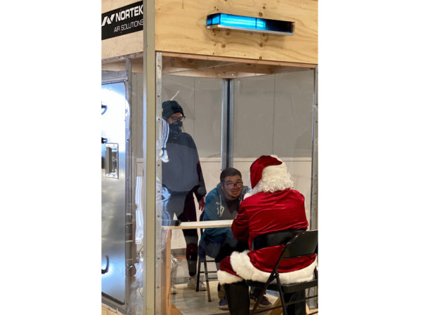 Nortek Air Solutions Saves Charity's Holiday Season by Designing a Visiting Booth with COVID-19 Safe HVAC 2
