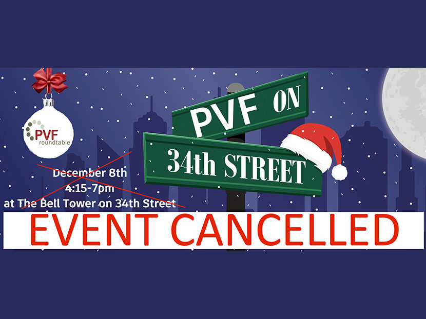 PVF Roundtable Cancels Christmas Party and Q4 Meeting