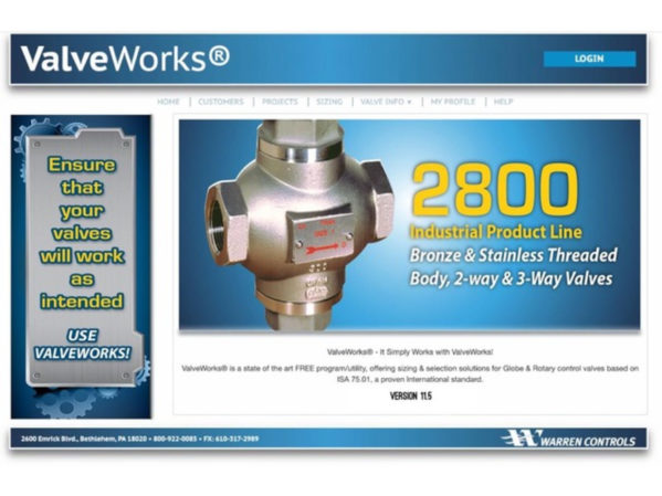 Warren Controls Announces Updates to ValveWorks Program 2