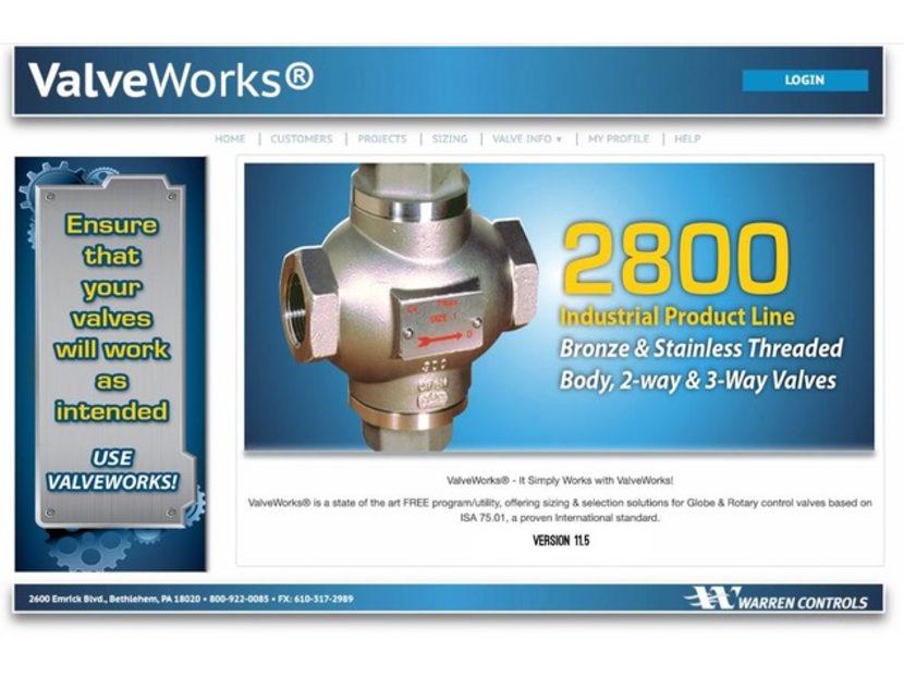 Warren Controls Announces Updates to ValveWorks Program 2