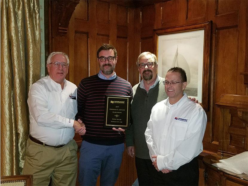 Leonard Valve Honors McCoy Sales with Frederick C. Leonard Award