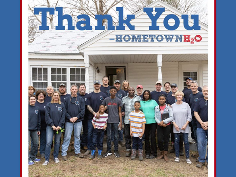 Chris Long's Hometown H2O and Xylem Restore Water to Family in Need