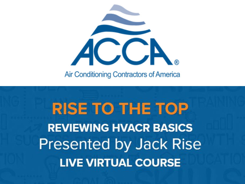 ACCA Offers New Live Virtual Course to Expand Knowledge in HVACR Basics 2