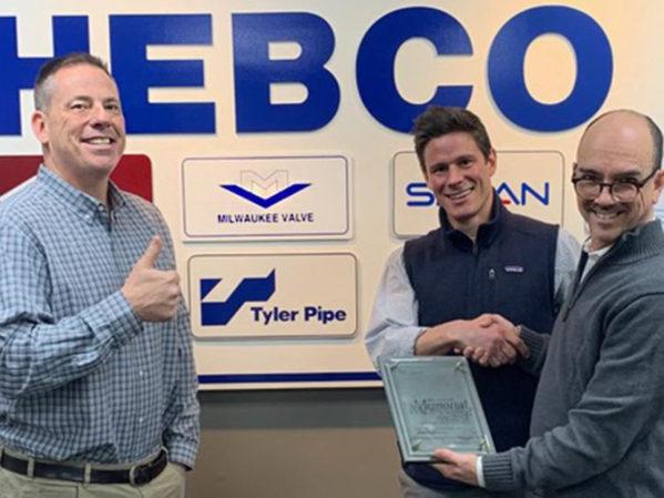 HEBCO Receives Milwaukee Valve Stockstell Award