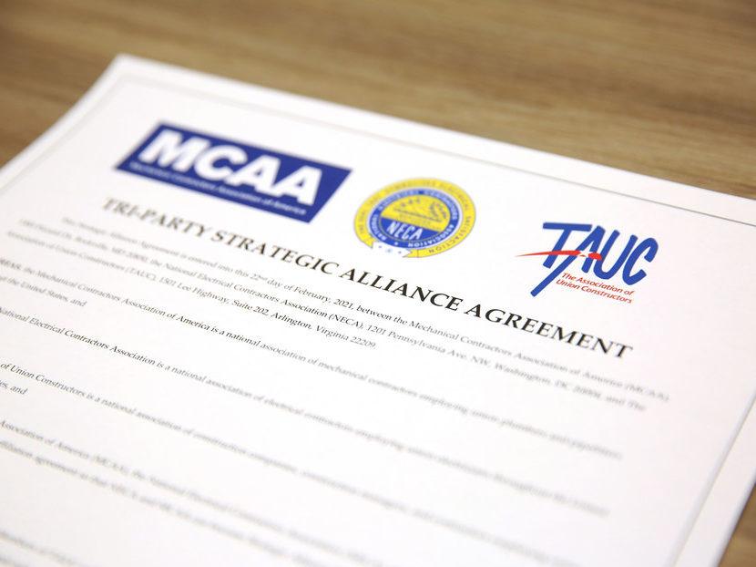 MCAA, NECA and TAUC Sign Strategic Alliance Agreement
