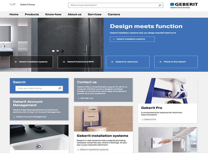 Geberit Launches New Website