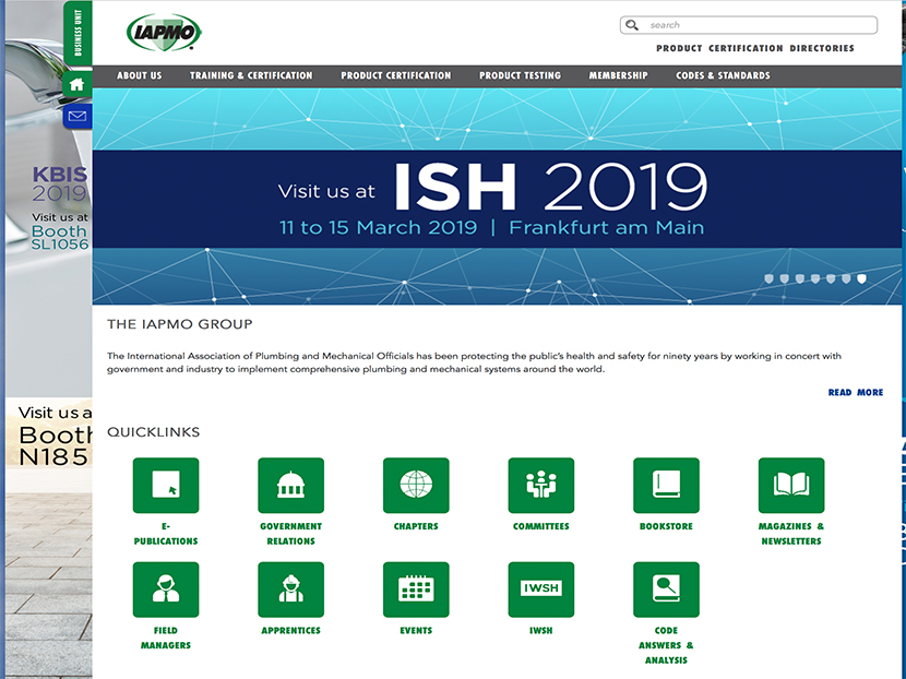 IAPMO Group Launches Newly Designed Website