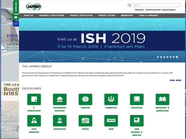IAPMO Group Launches Newly Designed Website