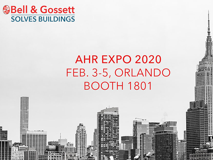 Bell & Gossett to Highlight Building Solutions Across North America, Unveil New HVAC Pumps at AHR Expo 2020