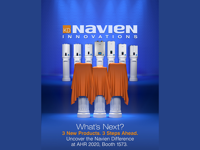 Navien to Introduce Three New Innovations at AHR Expo 2020
