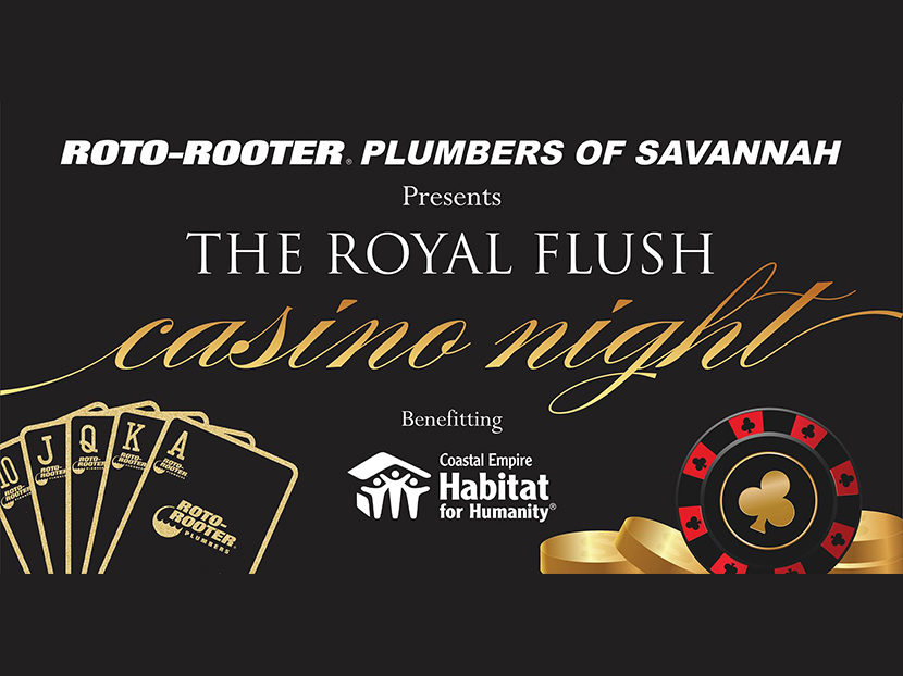 Roto-Rooter Plumbers of Savannah to Host Second Annual Royal Flush Casino Night
