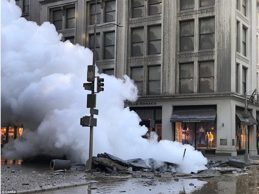 Manhattan Steam Pipe Explosion Spews Asbestos