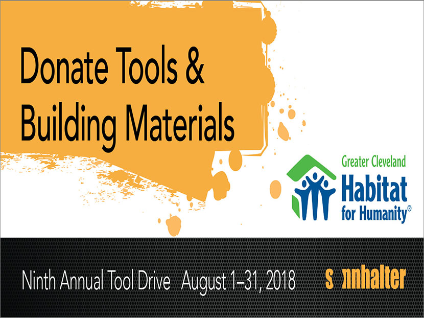 Sonnhalter Partners with Habitat for Humanity for the Ninth Annual Sonnhalter Tool Drive