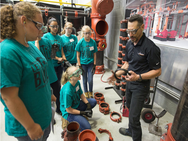 Victaulic-participates-in-lets-build-construction-camp-for-girls