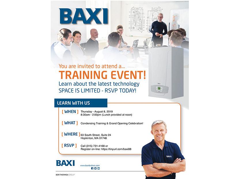 Baxi Announces Training and Grand Opening Event