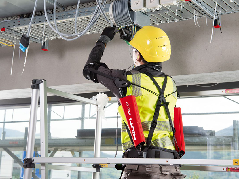 Hilti Unveils Wearable Exoskeleton