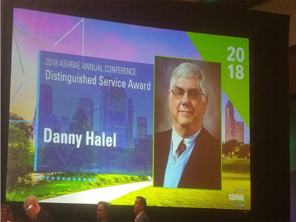 Danny Halel, ACCA Manager of Standards, Receives ASHRAE Distinguished Service Award