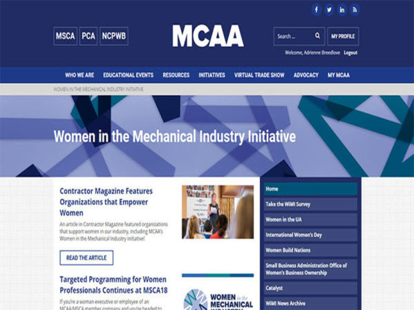 MCAA Introduces Women in the Mechanical Industry Initiative Page