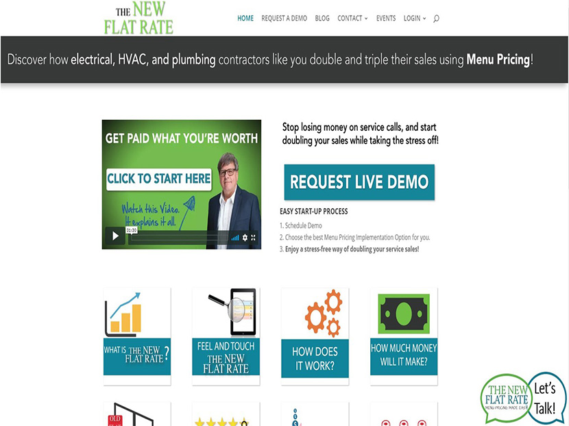 The New Flat Rate Unveils New Interactive Website