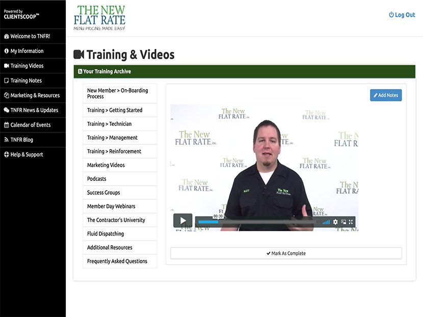 New Flat Rate Unveils New Cloud-Based Training Platform