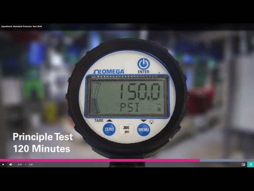 Aquatherm Releases Pressure Test Video