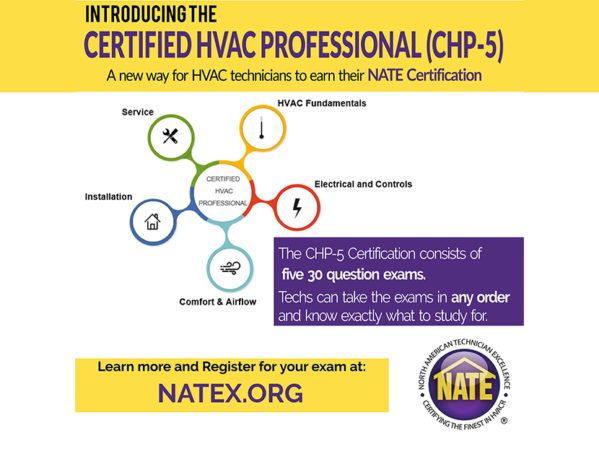 NATE Launches New Certification Pathway for HVAC Technicians