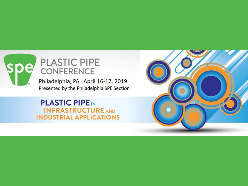 SPE Announces 2019 Plastic Pipe Conference