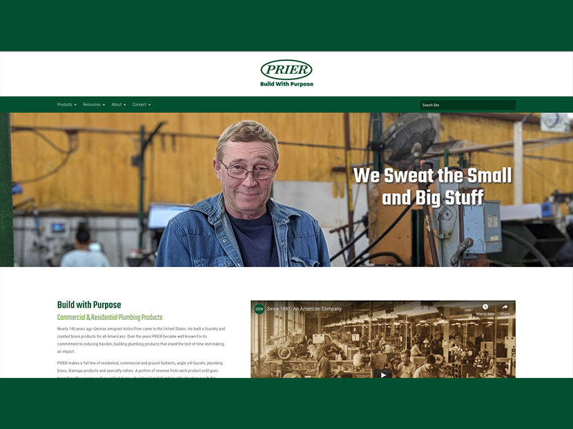 PRIER Launches New Brand Messaging and Website to Celebrate World Plumbing Day