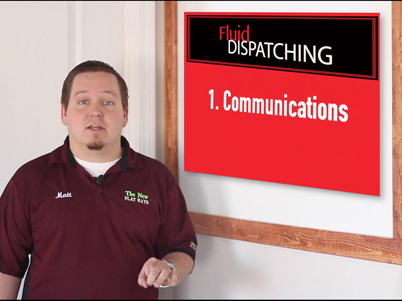 The New Flat Rate to Host Online Fluid Dispatching Workshop