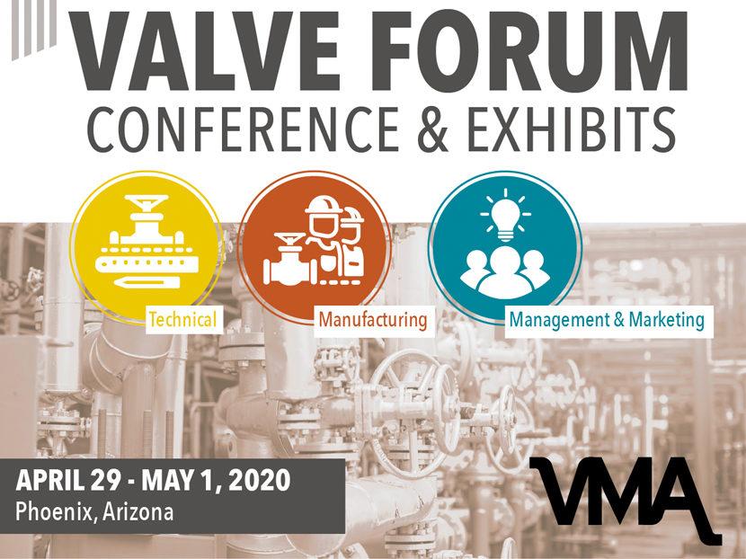 VMA Announces 2020 Valve Forum