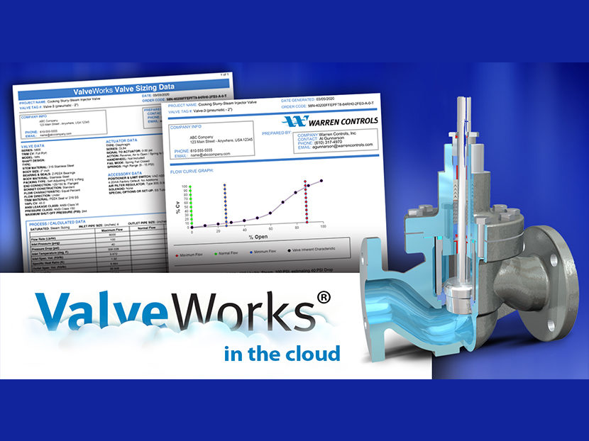 Warren Controls ValveWorks Program Improves Sizing and Selection Process