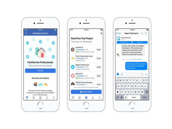 Facebook Marketplace Now Lets Consumers Hire Home Service Pros