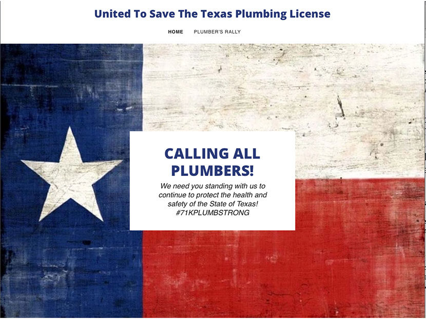 Plumbers Protest Elimination of Texas Plumbing Board
