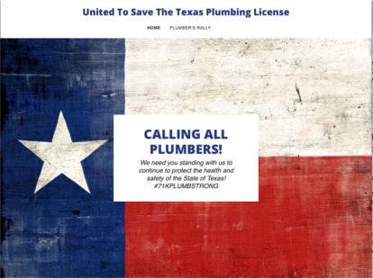 Plumbers protest elimination of texas plumbing board