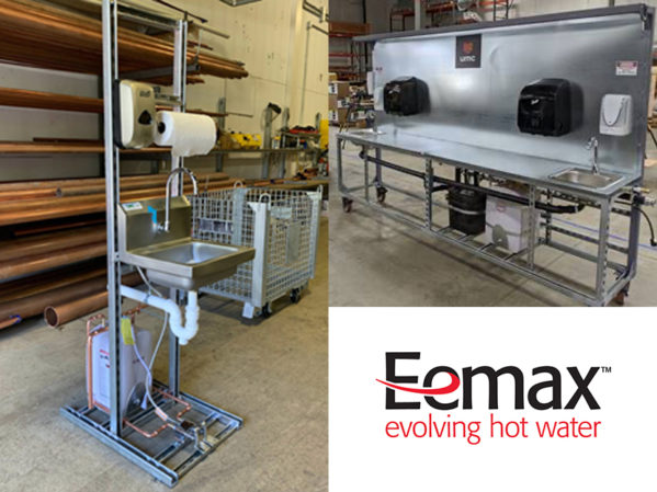 Eemax Sells Record Number of Miniature Electric Tanks for Portable Handwashing Stations at Makeshift Hospitals Across America