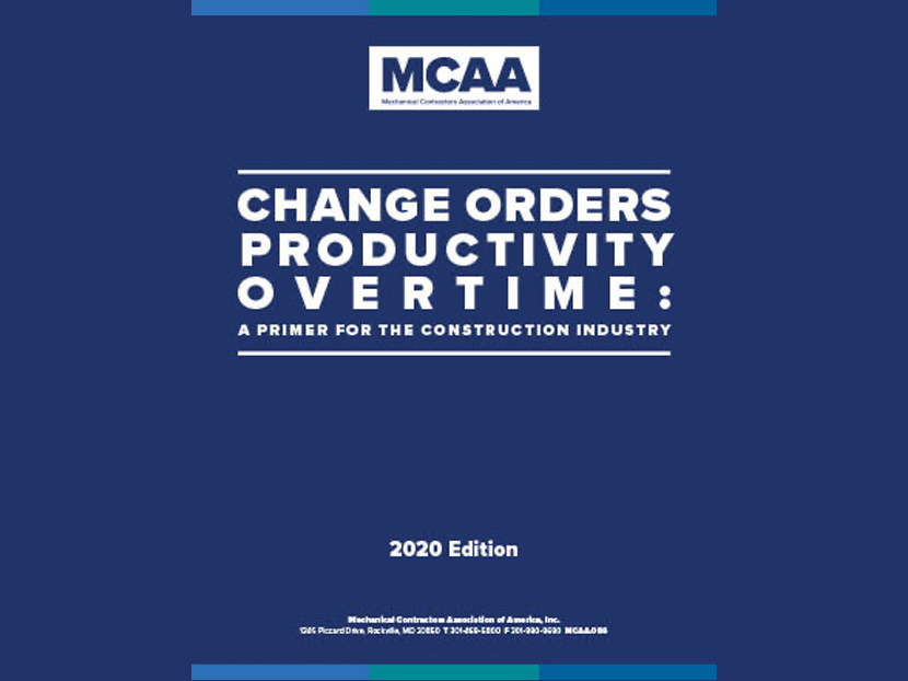 New MCAA Change Order Publication Update Provides Guidance During COVID-19 Crisis