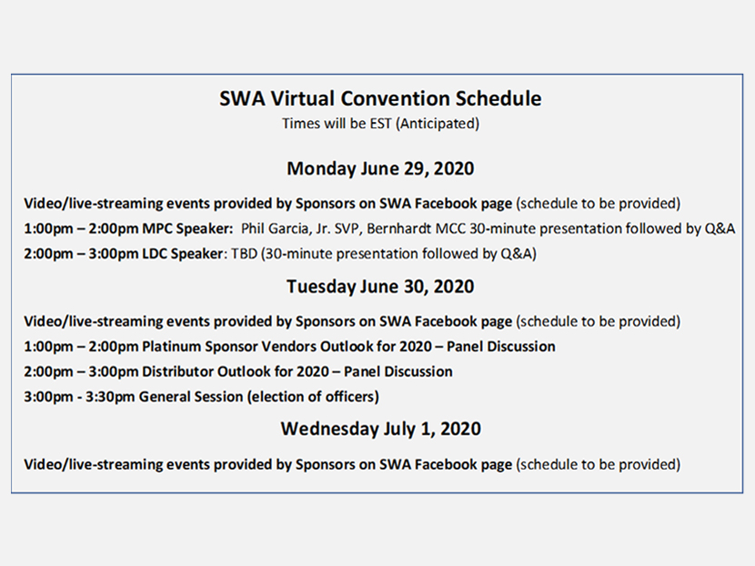 SWA to Host Virtual 2020 Convention 3