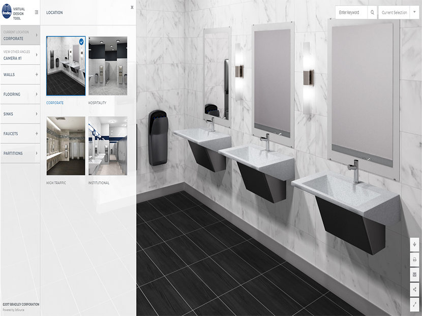 Bradley Launches Virtual Restroom Design Tool