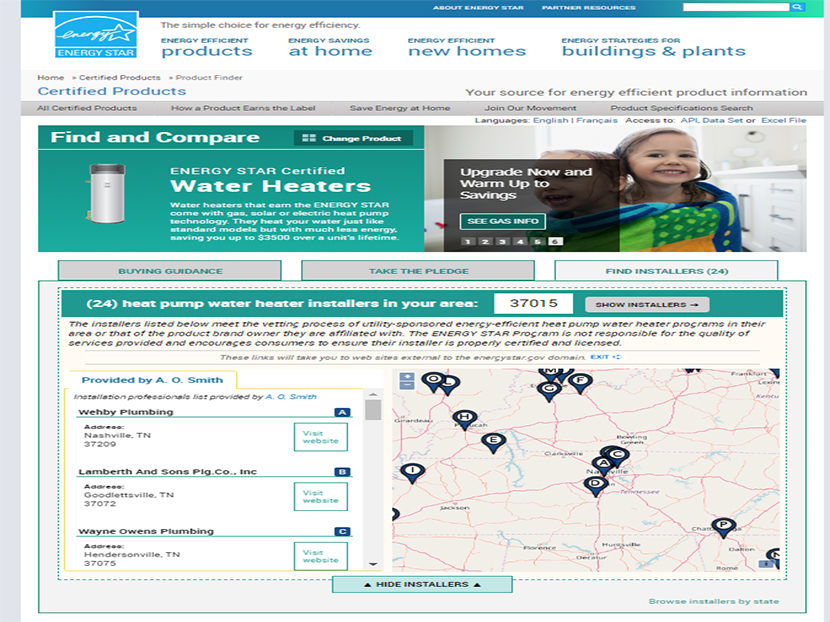 A. O. Smith Announces Exclusive ENERGY STAR Contractor Locator